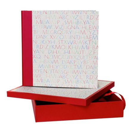 Álbum Caja Letra Fina Rojo