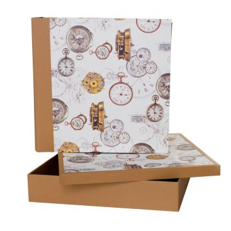 Álbum con Caja Reloj Ocre