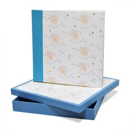 Álbum Caja Corazón Cenefa Azul