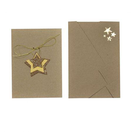Recordatorio Navidad Estrellas Plata