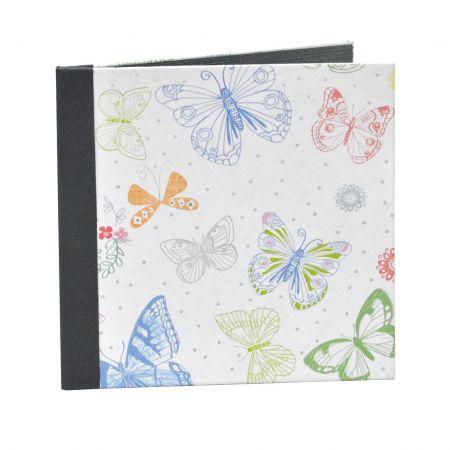 Díptico Recordatorio Comunión Mariposa Colores L.Gris