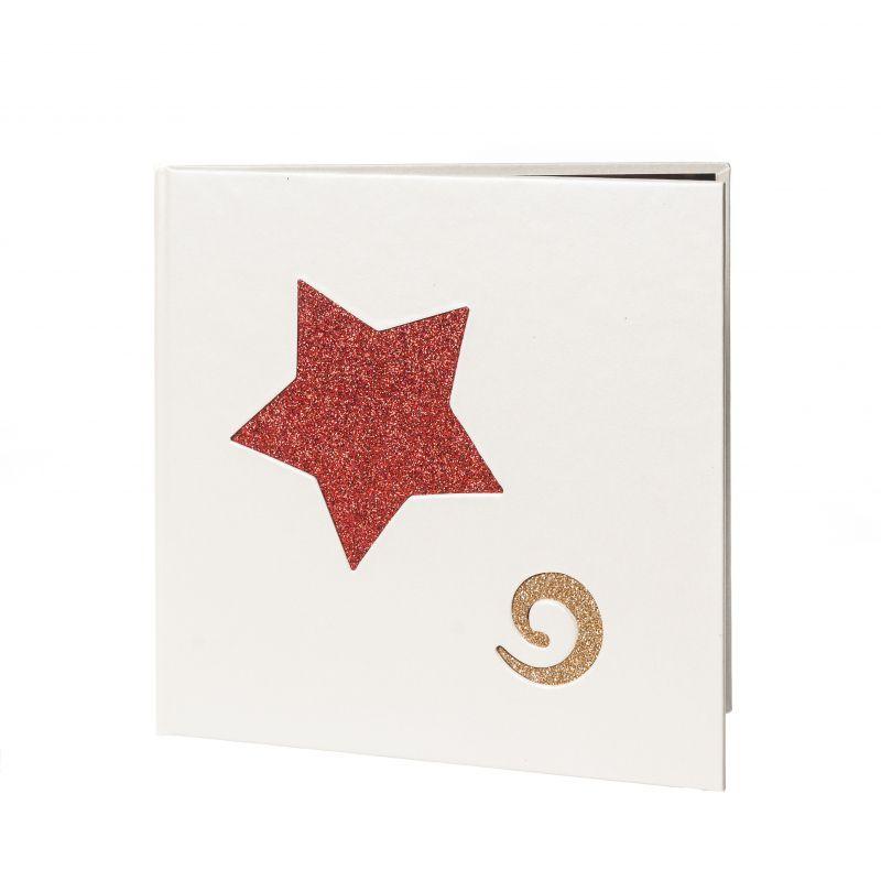 Díptico Rojo Estrellas Espiral