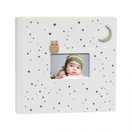 Álbum Infantil Búho Luna Madera