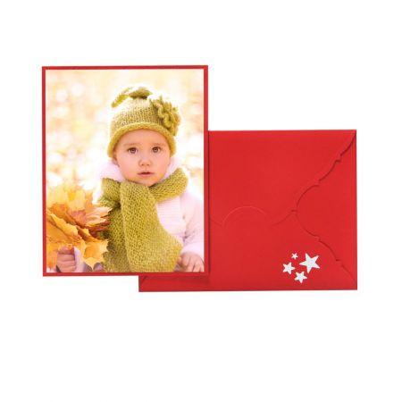 Recordatorio Peana Navidad Roja 15x20 Sobre