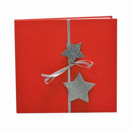 Álbum Predigital Rojo Navidad Estrellas