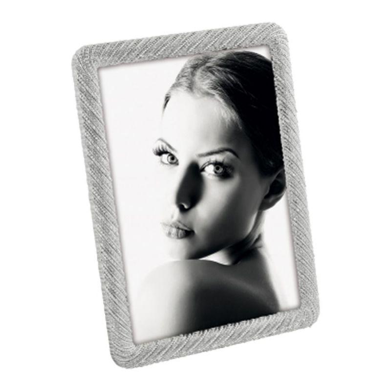 Portafoto Plateado Metal Diseño A1227