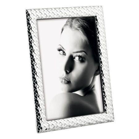 Portafoto Plateado Metal Diseño A1341
