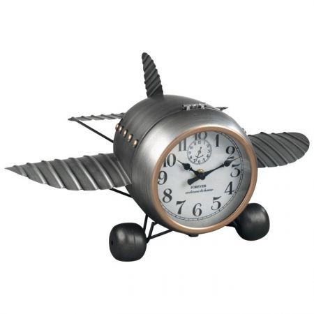 Reloj Metal Avión Sobremesa A1255