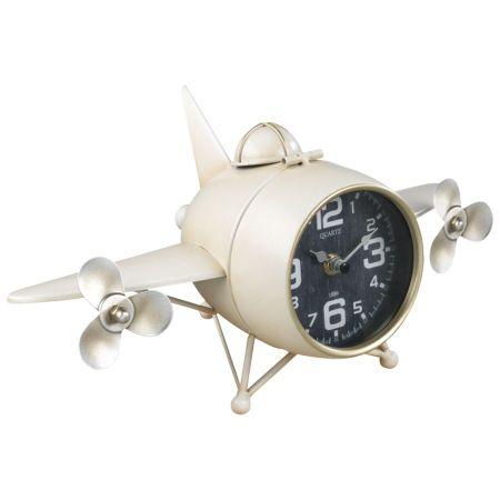 Reloj Metal Avión Sobremesa A1253