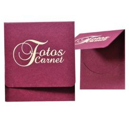 Carteritas Fotos Carnet Burdeos Logo Marfil