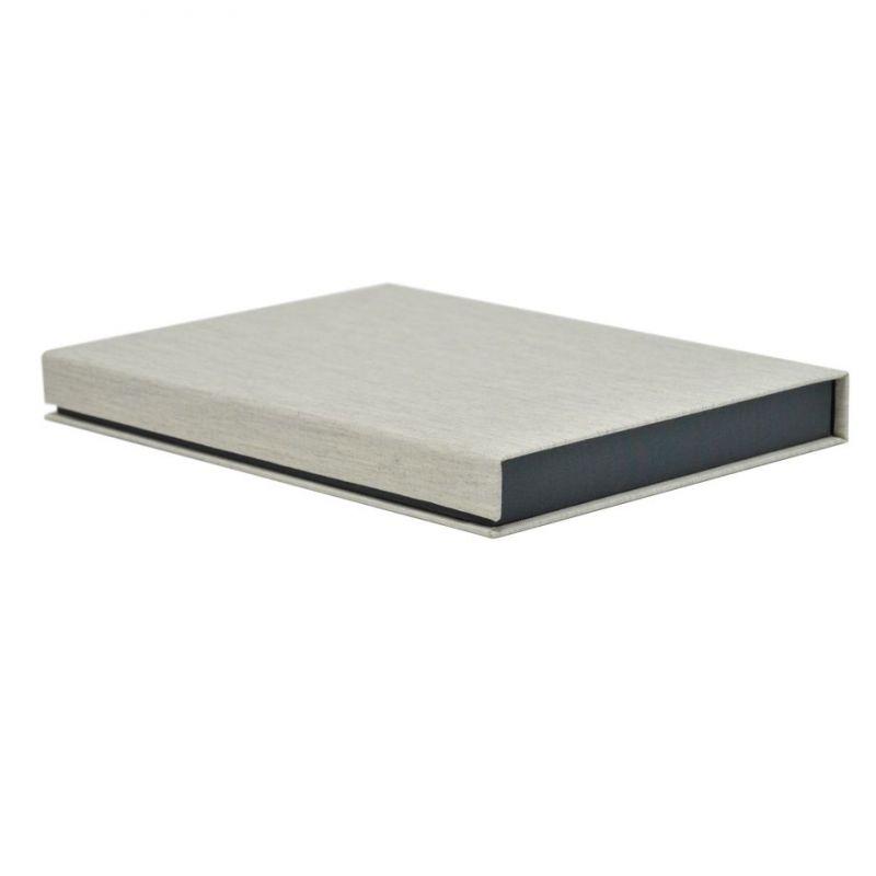 Caja lino tela gris 30x22