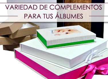 Cajas, maletas y complementos para álbumes