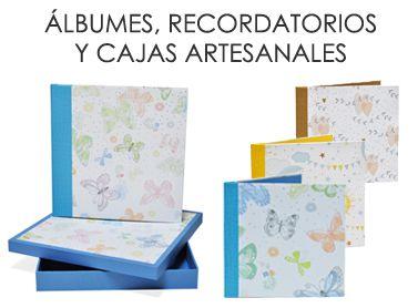 Álbumes, Recordatorios y Cajas Artesanales